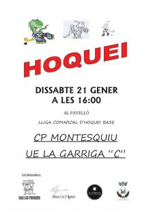1r partit d'hoquei CP Montesquiu 21 gener 16h