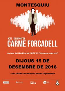 Cartell acte suport Carme Forcadell