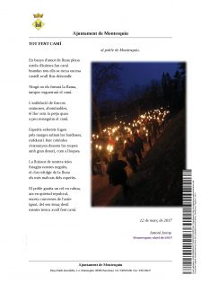 "Poema ""Tot fent camí"" al poble de Montesquiu"